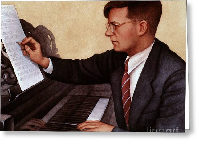 Pianist Photographs Greeting Cards - Dimitri Shostakovich Greeting Card by Granger