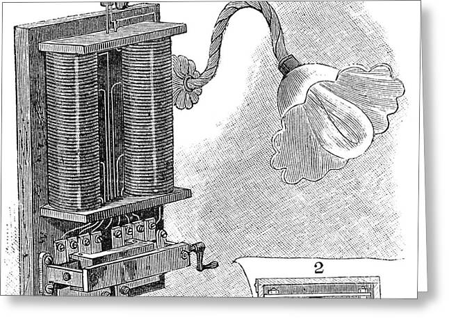 Component Greeting Cards - Dimmer Lamp Electrics, 19th Century Greeting Card by Spl