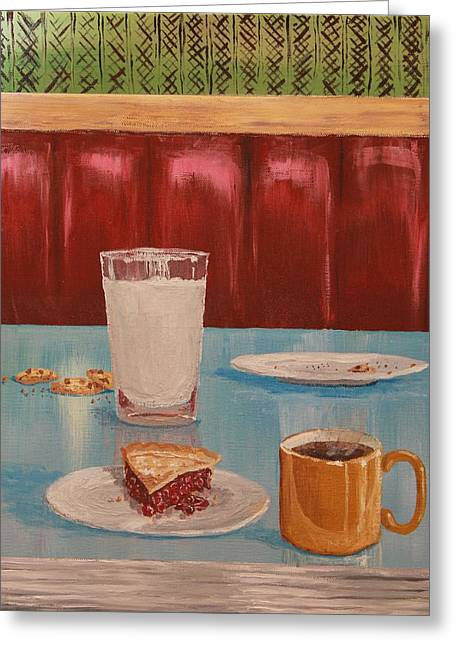Local Food Greeting Cards - Diner Booth Greeting Card by Nathan Ryan