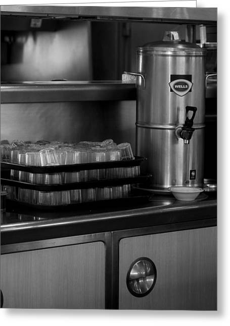 Tea Canister Greeting Cards - Diner View Greeting Card by Christine Patterson