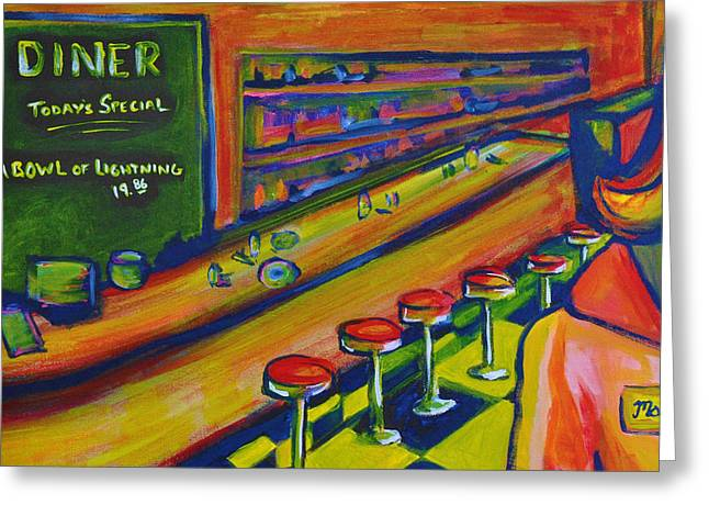 Panic Greeting Cards - Diner Greeting Card by Wade Schuster