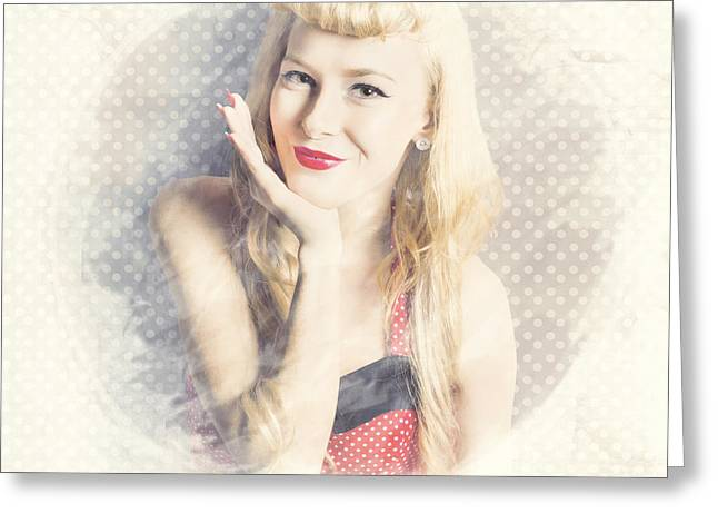 Diner Window Pin Up  Greeting Card by Jorgo Photography - Wall Art Gallery