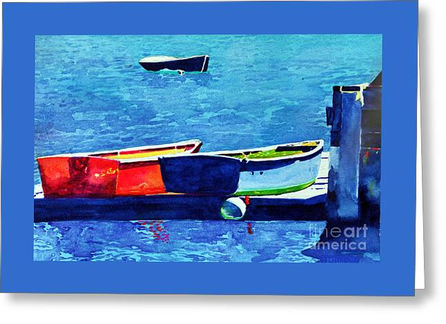 Docked Boats Greeting Cards - Dinghies Greeting Card by Judy CHAMPION