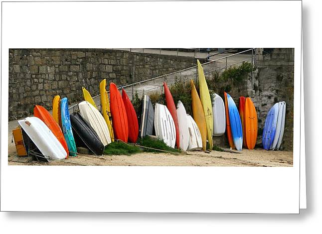Stacks Framed Prints Greeting Cards - Dinghy Conga Line Greeting Card by Jack Pumphrey