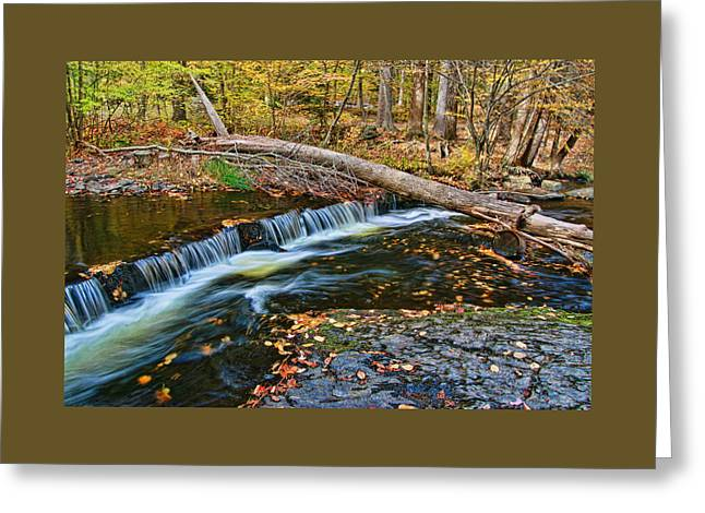 Dingman's Creek 2  - Milford P A Greeting Card by Allen Beatty