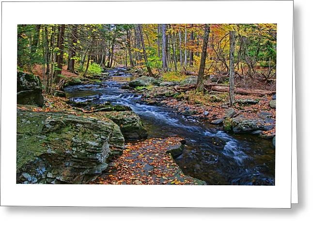 Dingman's Creek - Milford P A Greeting Card by Allen Beatty
