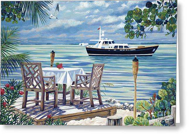 Danielle Perry Greeting Cards - Dining in Paradise Greeting Card by Danielle  Perry