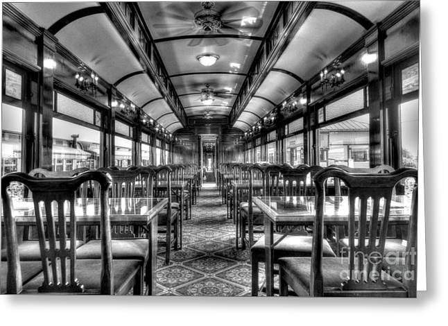 Strasburg Greeting Cards - Dining in Style - BW Greeting Card by Paul W Faust -  Impressions of Light