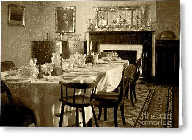 Antebellum Greeting Cards - Dinner Is ready Greeting Card by Pete Hellmann