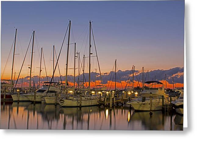 Sailboat Ocean Greeting Cards - Dinner Key Marina 2539 Greeting Card by Steve Lipson
