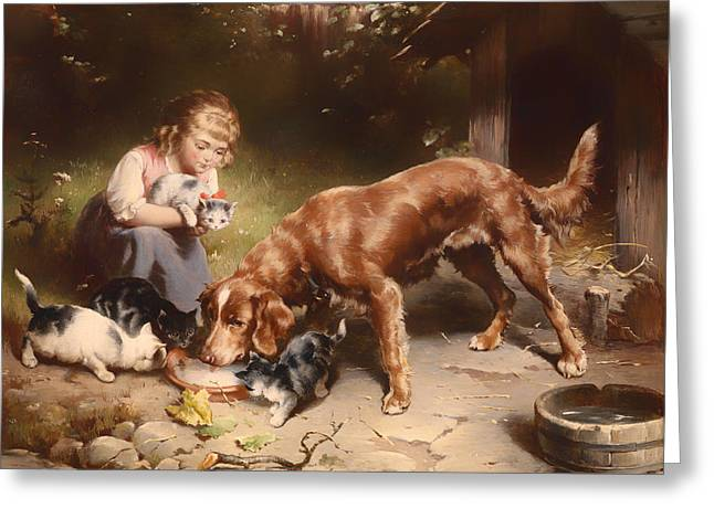 Doghouse Greeting Cards - Dinner Party Greeting Card by Carl Reichert