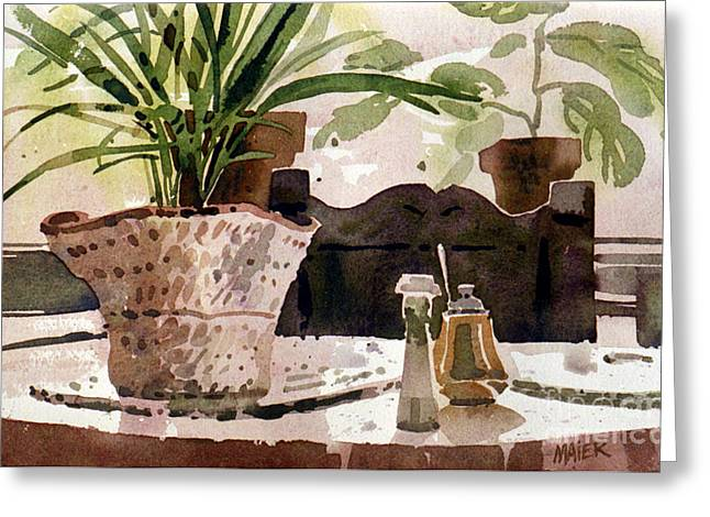 Table Setting Greeting Cards - Dinning Room Table Greeting Card by Donald Maier