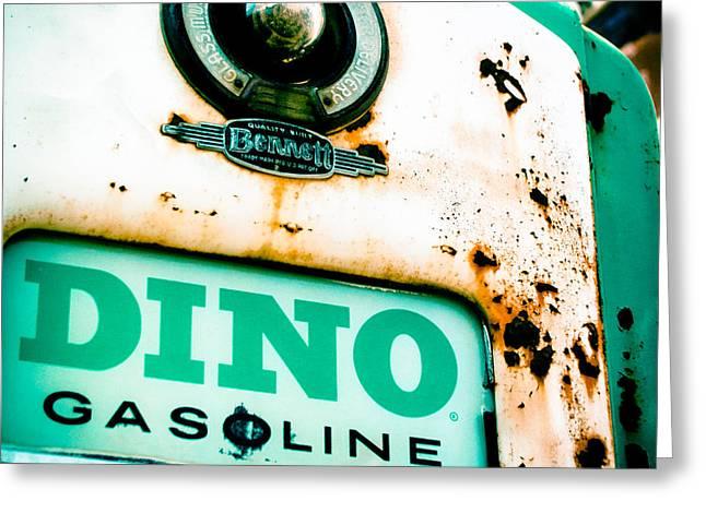Road Trip Greeting Cards - Dino Gasoline Greeting Card by David Waldo