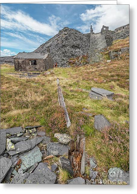 Dinorwic Quarry Ruins Greeting Card by Adrian Evans