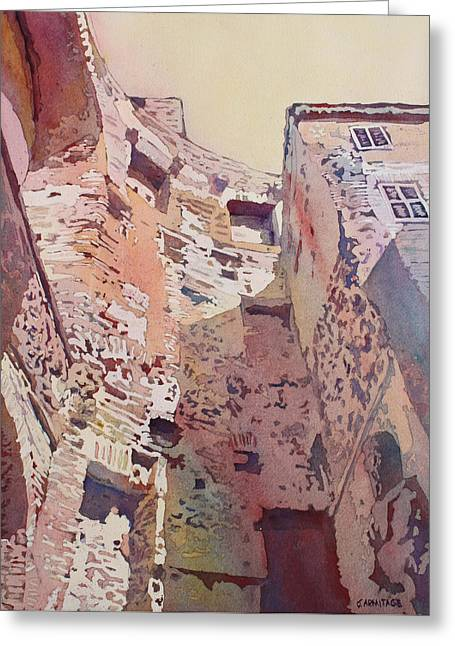 Diocletian Courtyard Greeting Card by Jenny Armitage