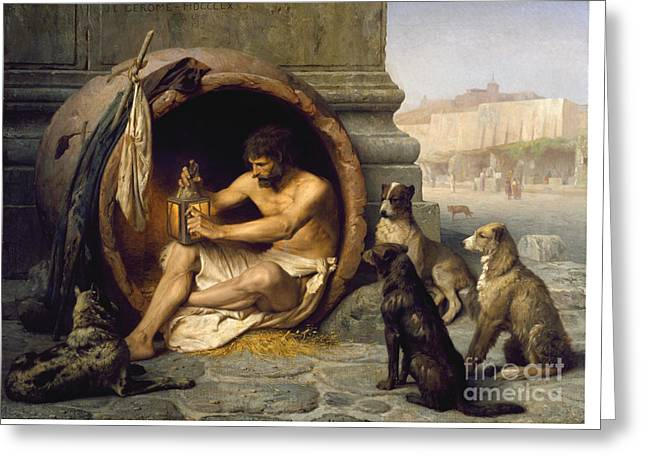 Gerome Greeting Cards - Diogenes of Sinope Greeting Card by Celestial Images