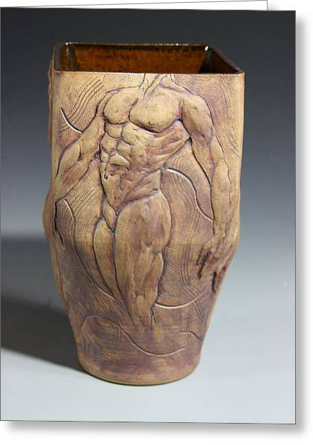 Male Ceramics Greeting Cards - Dionysos Inspirer of Ritual Ecstasy II Greeting Card by Dan Earle