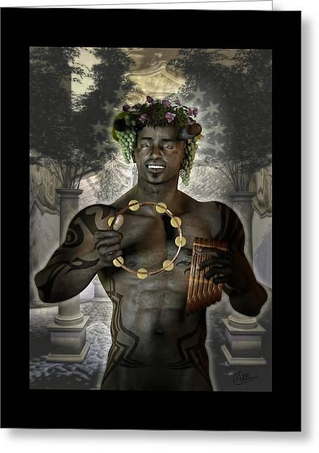 Dionysus God Of Grape Greeting Card by Quim Abella