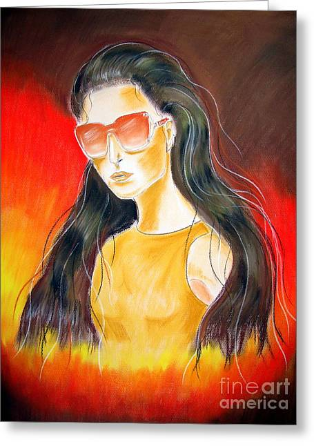 Sunglasses Pastels Greeting Cards - Dior..1 Greeting Card by Jo Hoden