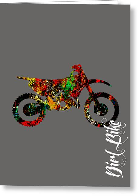 Dirt Bike Collection Greeting Card by Marvin Blaine