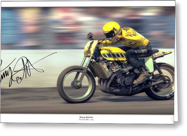 World Champions Greeting Cards - Dirt SPEED Greeting Card by Lar Matre