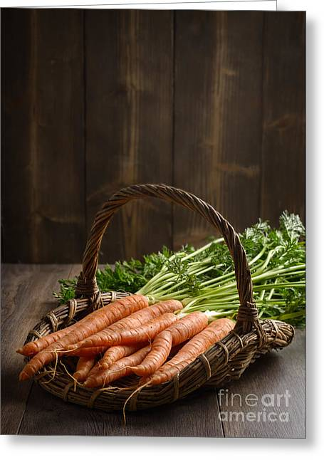 Fresh Produce Greeting Cards - Dirty Carrots Greeting Card by Amanda And Christopher Elwell