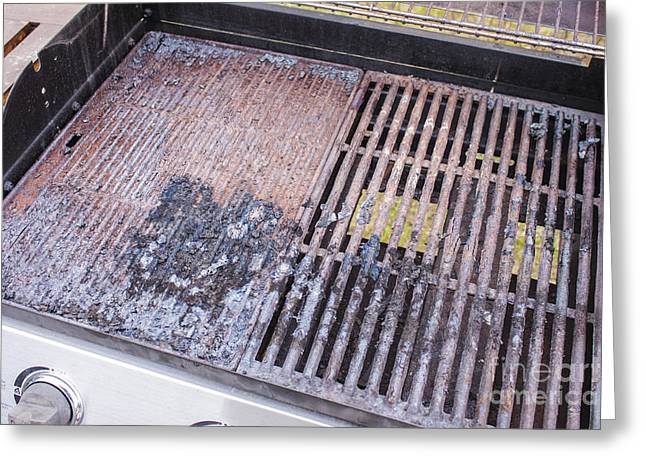 Industrial Background Greeting Cards - Dirty grill Greeting Card by Daniel Ronneberg