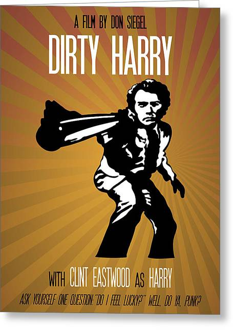 Harry Callahan Greeting Cards - Dirty Harry Go Ahead Make My Day Greeting Card by Florian Rodarte