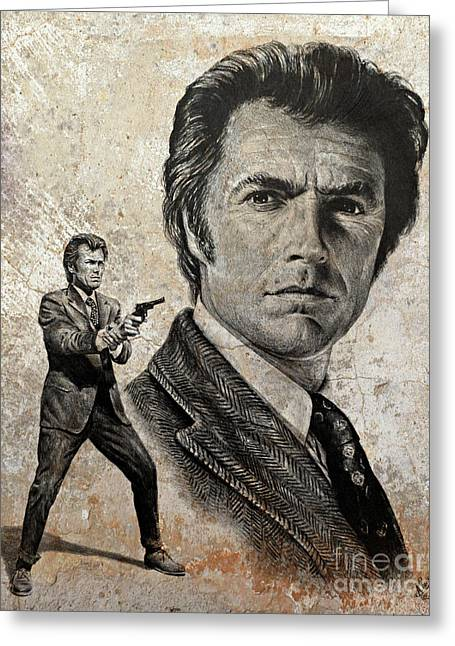 Dirty Harry  Make My Day Version Greeting Card by Andrew Read