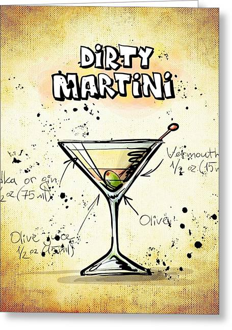 Gathering Mixed Media Greeting Cards - Dirty Martini  Greeting Card by Movie Poster Prints
