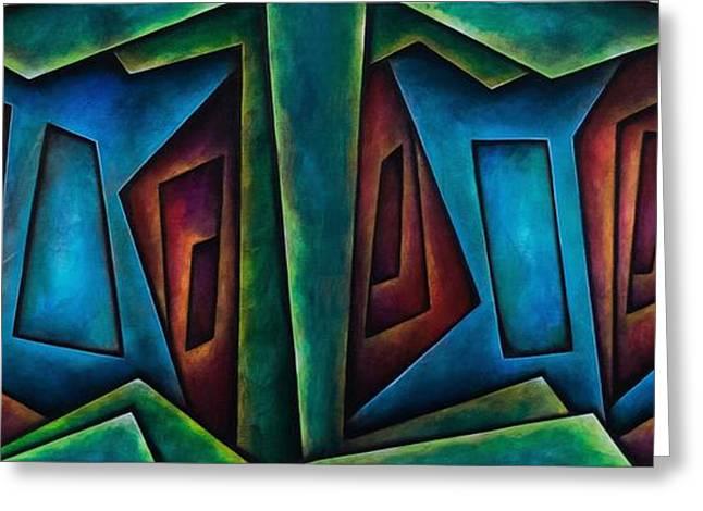 Geometrical Art Greeting Cards - Dirty Mirrors Greeting Card by Tripp Doogan