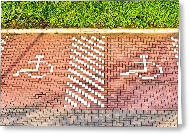 Wheelchair Greeting Cards - Disabled parking Greeting Card by Tom Gowanlock