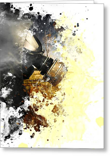 Disaster Of War And Gas Greeting Card by Jorgo Photography - Wall Art Gallery