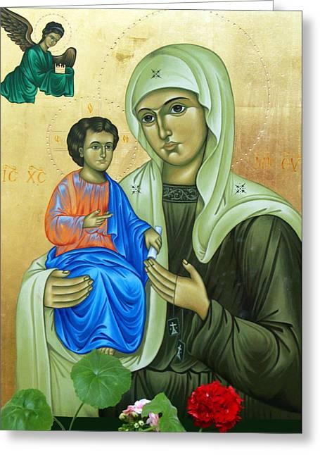 Baby Jesus Greeting Cards - Discalced Carmelite Painting Greeting Card by Munir Alawi