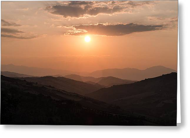 Italian Sunset Greeting Cards - Disciples of the Sun Greeting Card by Andrea Mazzocchetti