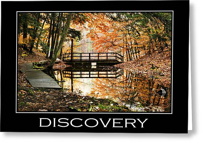 Incentive Digital Greeting Cards - Discovery Inspirational Motivational Poster Art Greeting Card by Christina Rollo