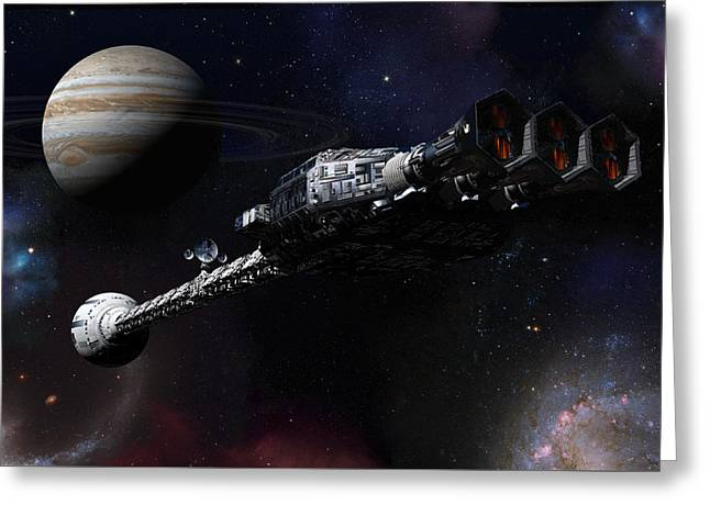 Discovery Near Jupiter Greeting Card by Joseph Soiza