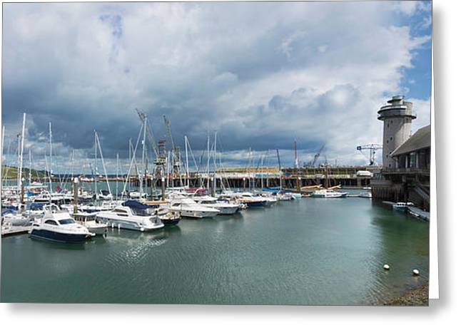 Discovery Quay Falmouth Cornwall Panorama Greeting Card by Terri Waters