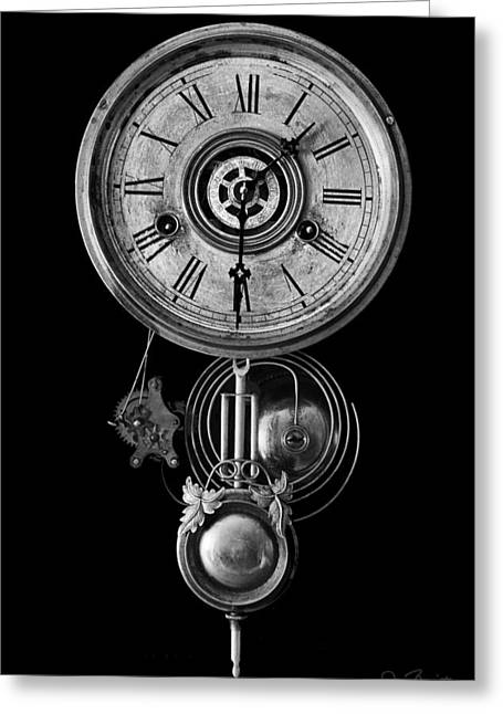Best Sellers -  - Mechanism Photographs Greeting Cards - Disembodied Time Greeting Card by Joe Bonita