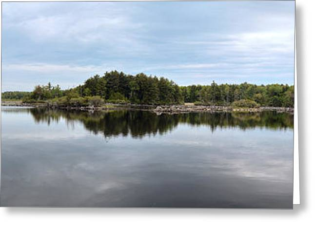 Reflecting Water Greeting Cards - Dismal Bay - Otis Reservoir - The Berkshires Greeting Card by Geoffrey Coelho