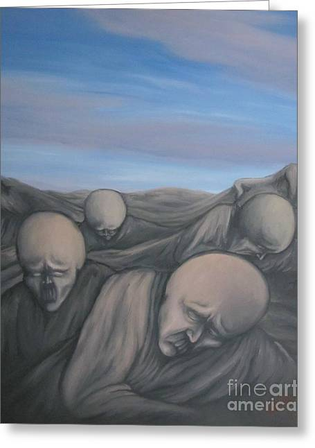 Dismay Paintings Greeting Cards - Dismay Greeting Card by Michael  TMAD Finney