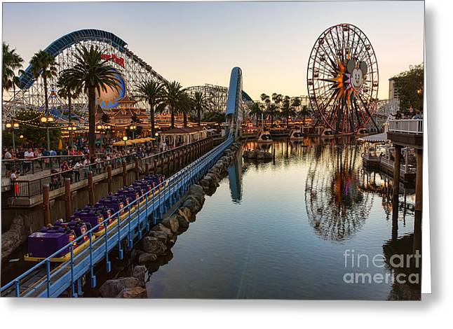 California Adventure Park Greeting Cards - Disney California Adventure Greeting Card by Eddie Yerkish