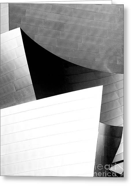 Metal Sheet Greeting Cards - Disney Concert Hall California 21 Greeting Card by Micah May