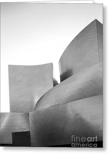 Metal Sheet Greeting Cards - Disney Concert Hall California 23 Greeting Card by Micah May