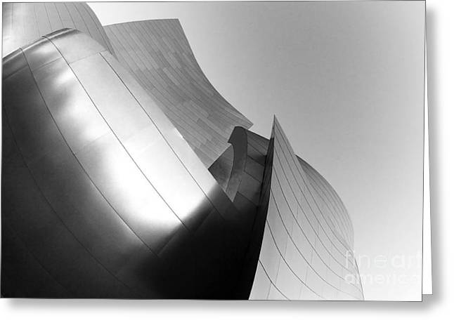 Metal Sheet Photographs Greeting Cards - Disney Concert Hall California 25 Greeting Card by Micah May