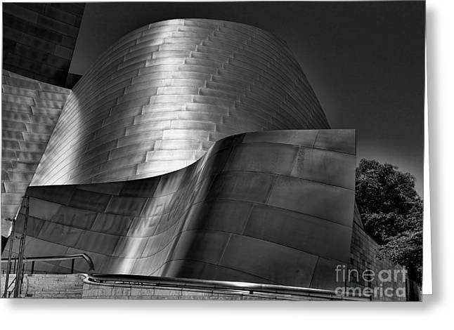 Stainless Steel Greeting Cards - Disney Concert Hall III Greeting Card by Chuck Kuhn