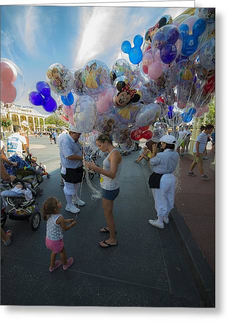 Main Street Greeting Cards - Disney World Balloons Greeting Card by Kevin Cable
