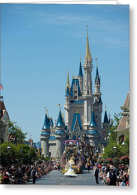 Main Street Greeting Cards - Disney World Parade Greeting Card by Kevin Cable