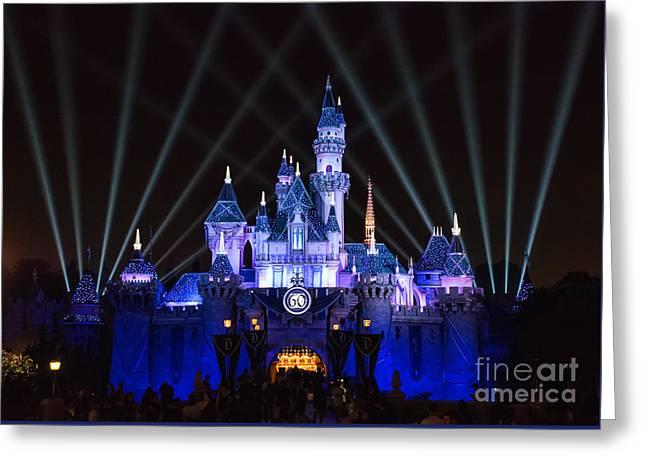 Disneyland Greeting Cards - Disneyland Diamond Celebration Greeting Card by Eddie Yerkish