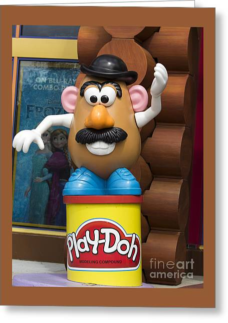 Toy Dog Greeting Cards -  Mr Potato Head Character Greeting Card by Joy